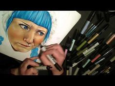 such cool videos. i love copic markers and good time lapse paintings!!!