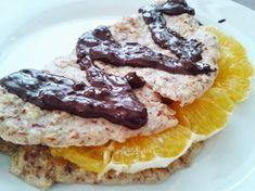 Fitness girl recipes: Almond pancakes with dark chocolate and orange recipe Oat Flour, Almond Flour, Almond Pancakes, Recipe Girl, Orange Recipes, French Toast, Chocolate, Breakfast, Fitness