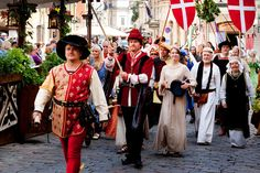 The Hansa Days (medieval period of times theme, celebrations). Tallinn. Estonia - Cultural Highlights
