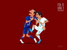 Momentos ilustrados da copa do mundo de 2014