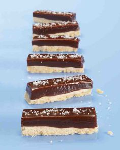 Fleur de sel adds a touch of salt and crunch to this sweet, chewy bar.
