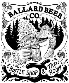 Our humble illustration is located in Seattle, WA. Beer Company, Tee Shirt, Drawings, Creative, Illustration, Projects, Cards, Blog, Sketches