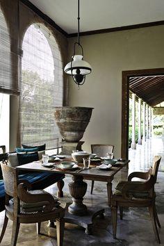 Indonesian dinning room decor #Indonesianstyle #homedecor livestreamasia.com