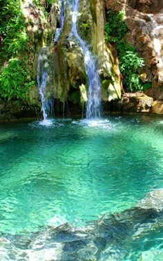 Waterfalls of Fonissa in kythera Island, Greece