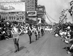 The real 'Boardwalk Empire': Atlantic City during Prohibition in the 1920s - NY Daily News - This is the Bathers Revue of 1923 where 500,000 people crowded the Boardwalk. Atlantic City  became very popular in the 20's due in part to it's lax enforcement of Prohibition.