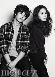 SHINee's Minho & f(x) Krystal High Cut Korea Magazine