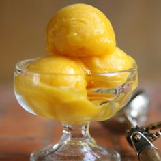 ... Sherbet | Tangy, sweet mangoes make the creamiest kind of sherbet