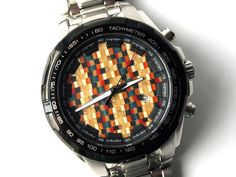 Watch with face made from old used skateboards!