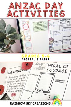 Our Anzac Day Pack is a set of learning 15 printable and digital activities that can be used as a sequenced series of lessons or as individual tasks. It has been created to highlight the importance of ANZAC Day in our country. HASS lesson ideas for Grade 5 and Grade 6. Primary Classroom, Google Classroom, Classroom Ideas, Learning Resources, Teaching Ideas, Google Platform, Rainbow Sky, Anzac Day, Australian Curriculum