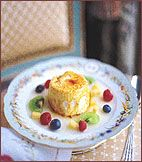 Fruit Soup with Caramel Meringues  recipe by Georges Perrier