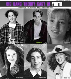 The Big Bang Theory cast in youth