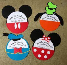 Disney Character Invitations via Etsy
