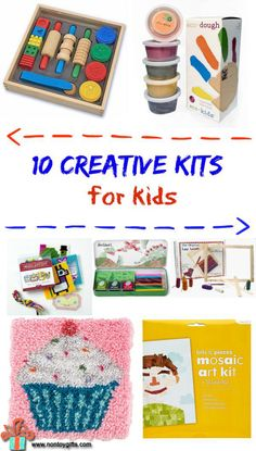 These 10 creative kits are a great way to let kids immerse themselves in different art forms and get their creative juices flowing. #kids #kit #gift