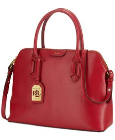c77e1b3ca46f Lauren Ralph Lauren Tate Dome Satchel - Handbags  amp  Accessories - Macy s  Satchel Handbags