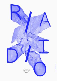 Metronomy: Radio Ladio, poster designed by Côme de Bouchony – Type Only Unit Editions Type Design, Layout Design, Print Design, Web Design, Logo Design, Bts Design Graphique, Illustration Design Graphique, Type Illustration, Graphic Design Posters