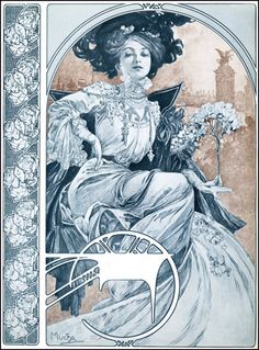 Czech Art Nouveau painter Alphonse Mucha - Beauty will save Art And Illustration, Illustrator, Design Art Nouveau, Alphonse Mucha Art, Jugendstil Design, Kunst Poster, Art Moderne, Arte Floral, Graphic