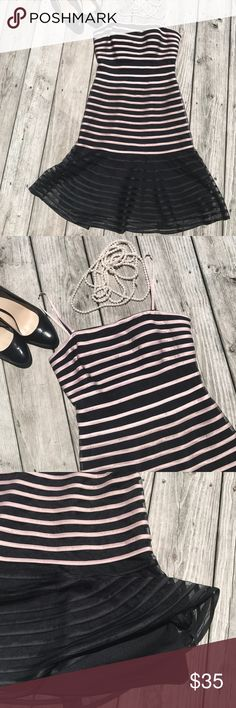 New!  Slinky and fun spaghetti strap dress! Gorgeous and deserves to be shown off, not hiding in my closet!  Side zip dress, fully lined!  I purchased it and just haven't worn it!  Dress is black with dusty pink JS Collections Dresses