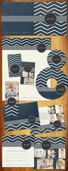 Boutique Marketing Package  Navy Zig Zag by KayleeBugDesign, $50.00