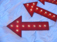Red Arrow Vintage Marquee Sign Light up. by HunterSprings on Etsy, $49.99