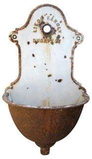 Antique European Iron & Porcelain Lavabo