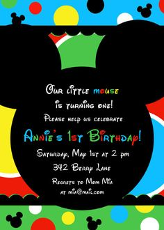 Mickey Mouse Clubhouse Printable Party Invitation