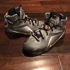 huge discount a4dda 994e4 Nike Shoes   Nike Lebron James 12 Grey Black Silver Yellow   Color   Silver Yellow   Size  5b