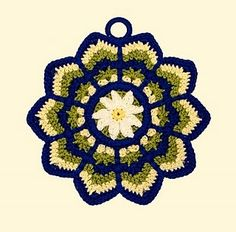 Ripple Potholder - this looks like it'd be a pain, but it'd be cute to try.