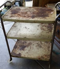 These curbside, flea market, garage sale finds were just gems hiding under layers of rust! These curbside, flea market, garage sale finds were just gems hiding under layers of rust! Refurbished Furniture, Bar Furniture, Repurposed Furniture, Furniture Making, Furniture Makeover, Painted Furniture, Furniture Market, Furniture Refinishing, Retro Furniture
