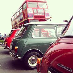 Mk I Mini Coopers, taken Madeira Drive Brighton, May 2012, during London to Brighton Mini Rally. @rubberfunk - #statigram