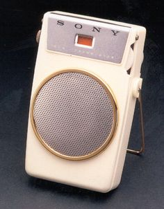 One of Sony's first transistor radios. Introduced in June 1958, 700,000 units were sold all over the world.