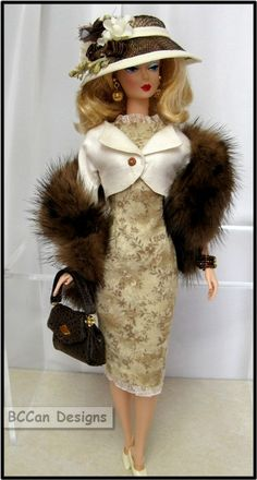 browntan | by bccan designs Vintage Barbie Clothes, Vintage Dolls, Doll Clothes, Vintage Hats, Barbie Dress, Dress Up, Barbie Outfits, Vintage Fashion 1950s, Victorian Fashion