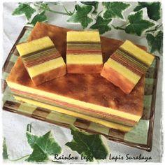 Tested & Tasted: Rainbow Legit and Lapis Surabaya Indonesian Desserts, Indonesian Cuisine, Asian Desserts, Bakery Recipes, Cooking Recipes, Lapis Surabaya, Bolu Cake, Layer Cake Recipes, Layer Cakes