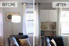 hiding an ugly wall unit air conditioner ikea billy hack, hvac, living room ideas, painted furniture Billy Hack, Ac Unit Cover, Ac Cover, Ikea Billy Bookcase Hack, Billy Bookcases, Ikea Kids, Wall Storage, Record Storage, Storage Units