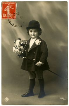 Old Photo - Darling French Child + a Giveaway - The Graphics Fairy