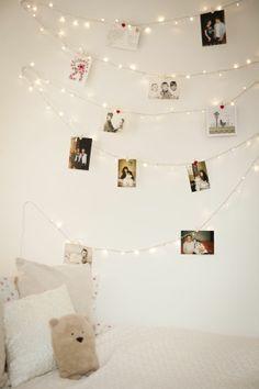 Bedroom Fairy Light Ideas: Quick & Easy DIY Fairy Light Wall | 4 Home
