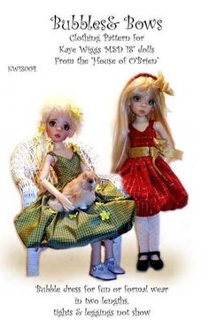 Fun Frills Pattern for 46cm MSD BJD Kaye Wiggs Dolls