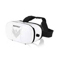M2cpower® 3D VR Virtual Reality Glasses Headset (LATEST VERSION)3D VR Glasses with Head-mounted Headband and NFC Tag for Google iPhone Samsung Note LG Huawei HTC Moto smartphone for 3D Degree Videos *** Find out more about the great product at the image link.