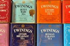 Twinings tea tins. love these old ones!