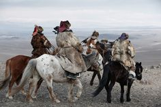 The Kazakhs are the descendants of Turkic, Mongolic and Indo-Iranian indigenous groups and Huns that populated the territory between Siberia and the Black Sea. They are a semi-nomadic people and have roamed the mountains and valleys of western Mongolia with their herds since the 19th century.