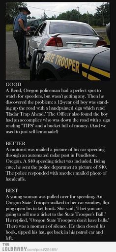 THE LAST ONE OMG  True fact: Oregon State Troopers don't have balls.