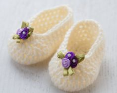 Crochet Pattern 077 Crochet Baby Shoes Crochet por AlenasDesign