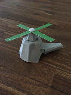 H for Helicopter! Egg Carton Helicopter!