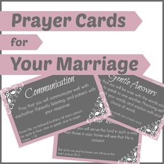 Prayer Cards For Your Marriage Subscriber Freebie