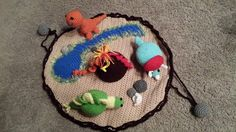 Crochet Dinosaur Playmat by PaperYarnbyColleen on Etsy