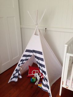 Items similar to Gender neutral Tepee/ teepee including poles. Ready to ship. on Etsy Beautiful Interior Design, Gender Neutral, Kids Rooms, Nest, Toddler Bed, Feather, Ship, Home Decor, Nest Box