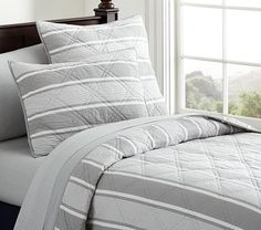 Jackson Quilted Bedding - Standard Sham with Comfy Plush Comforter #pbkids
