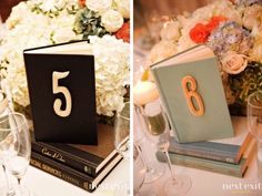 28 ideas for wedding table numbers vintage book centerpieces Vintage Book Centerpiece, Vintage Table Decorations, Book Centerpieces, Wedding Centerpieces, Wedding Decorations, Centrepiece Ideas, Book Table Numbers, Vintage Table Numbers, Unique Table Numbers