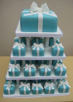 CakeChannel.com - World of Cakes: Tiffany Blue Mini Wedding Cakes