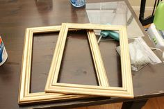 Make a Shadow Box Frame using 2 frames...one slightly smaller than the other.