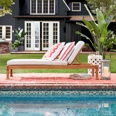 Somerset Outdoor Teak Chaise | Williams-Sonoma. $1k